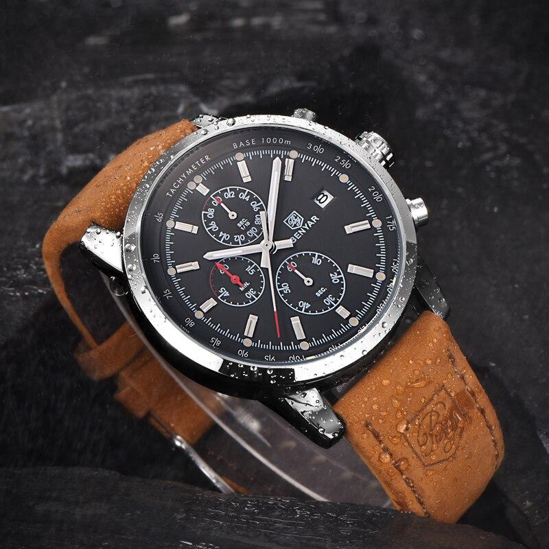BENYAR Fashion Chronograph Sport Mens Watches Top Brand Luxury Quartz Watch Reloj Hombre saat Clock Male hour relogio Masculino 4