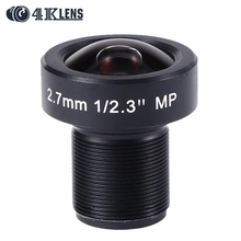 4K LENS 2.7MM Lens IR 1/2.3 Inch 12MP M12*P0.5 Flat Gopro Lens Super Wide Angle for Sports Camera and Drone Modification 2016