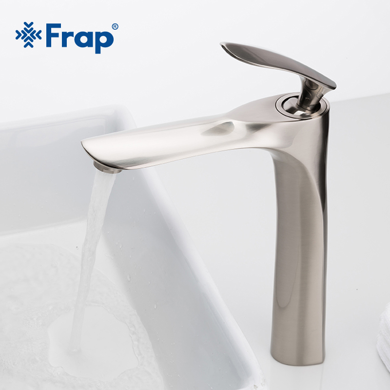 FRAP Single Handle Bathroom Faucet Brass Basin Faucet Deck Mounted Single Lever Bathroom Hot Cold Water Mixer Sink Faucet Y10096
