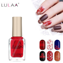 New 6ml Pearl light Nail Stamping Polish 12 colors Optional Stamping Nail Polish For Nail Art Brand(China)