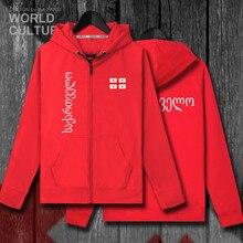 Georgia GEO gruzińskie męskie bluzy z kapturem zimowe koszulki męskie kurtki i dresy ubrania casual nation płaszcze z zamkiem błyskawicznym nowy 2018