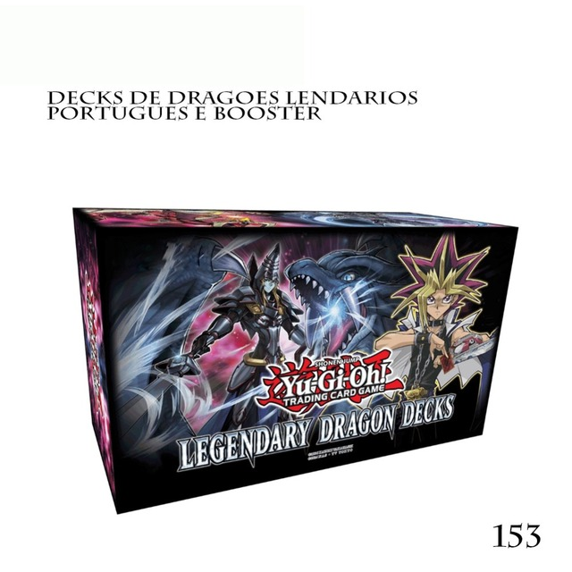 153Pcs/Set Yu Gi Oh Trading Game Cards Legendary Dragon Decks English Yu-Gi-Oh Cards Anime YuGiOh Game Cards For Collection Box