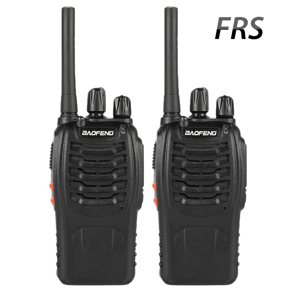 2 pièces Baofeng BF-88A FRS Talkie-walkie 0.5 W UHF 462-467 MHz 16 CH Poche Jambon Radio bidirectionnelle Version Mise À Niveau de BF-888s