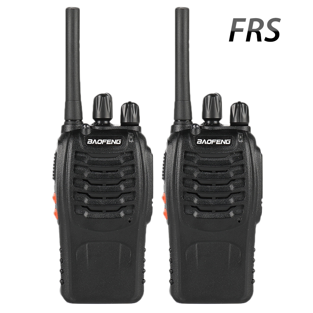 2PCS Baofeng BF-88A FRS Walkie Talkie 0.5W  UHF 462-467 MHz 16 CH Handheld Ham Two Way Radio Upgrade Version Of BF-888s