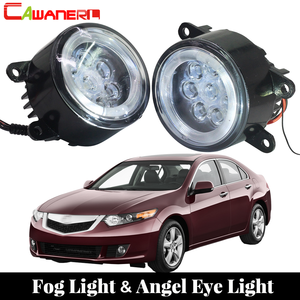 Cawanerl 2 X voiture LED ampoule antibrouillard ange oeil jour lumière courante DRL 12 V style pour 2011 2012 2013 2014 Acura TSX