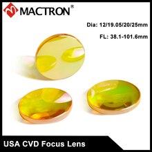 USA Imported 18mm Dia Focal Length 38.1, 50.8, 63.5, 76, 101mm Laser Lens For Co2 Laser Machine цены
