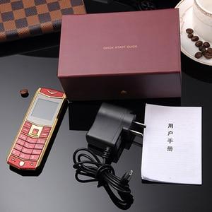 Image 4 - Mafam A8 ロシア語アラビア語スペインフランス振動高級金属ボディ車のロゴデュアル sim の携帯電話レザーケースギフト p234