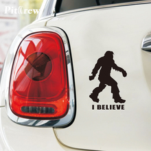 1PC 12*18.6cm Cartoon Animals Bigfoot Sasquatch I Believe Stickers Car Styling Anime Car Stickers Decals Exterior Accessories(China)