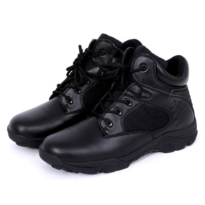 DELTA Men Hiking Shoes Military Desert Tactical Boot Army Genuine Leathe Breathable Hunting Climbing Work Shoes Ankle Boots 4