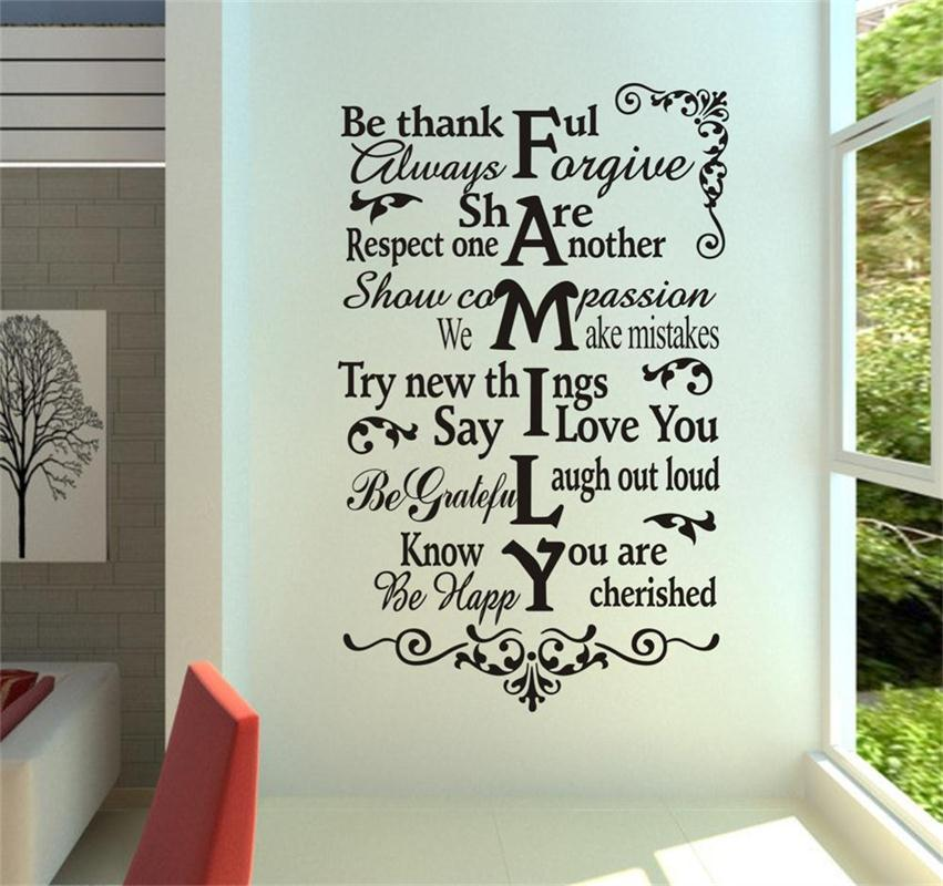 f2cf154a64 house rules wall stickers home decorations zooyoo8224 living room design  home decoration sticker 3d removable vinyl wall decals