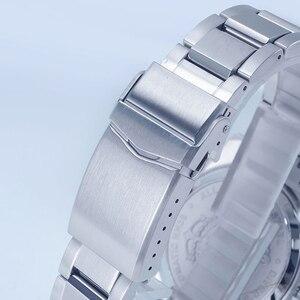 Image 5 - 산 마틴 62mas 남자 자동 시계 200m 방수 12 빛나는 베젤 스테인레스 스틸 스트랩 남성용 다이빙 손목 시계