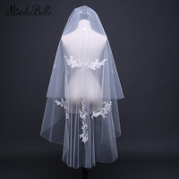 modabelle Vintage Style Appliques Two Layers Bridal Veil Wedding Short Bruidsschoenen Dames Ivoor Hair Accessories In Comb