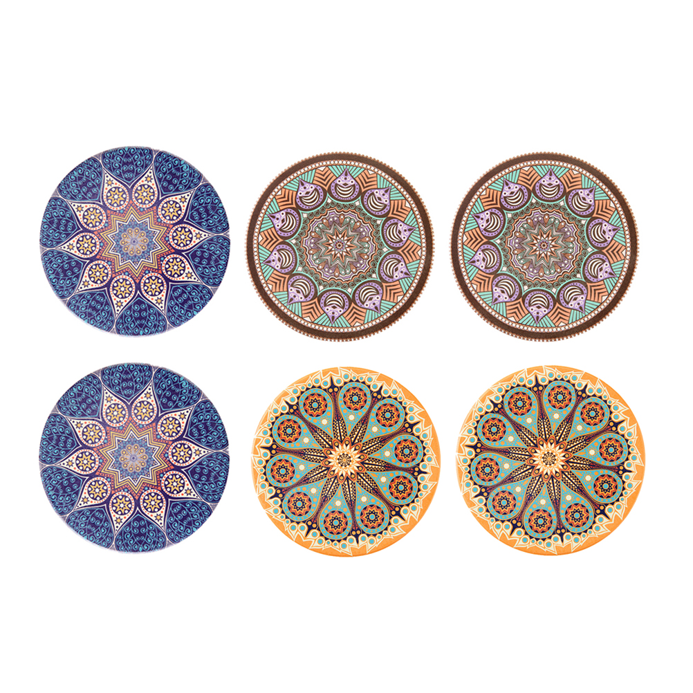 SARA MILLER GARLAND CHRISTMAS HEAT RESISTANT CORK BACKED PLACEMATS /& COASTERS