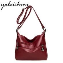 Luxury handbag designer high quality shoulder bag leather sheepskin ladies shoulder bag Messenger bag solid color bag durable цена 2017