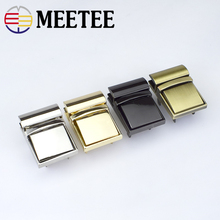 2pcs Meetee Handbags turn lock hardware accessories metal twist Buckle switch latch padlock for bag E6-5