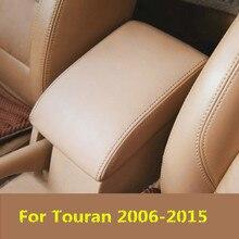 DIY передний подлокотник для хранения коробка кожаный чехол для Volkswagen Passat Touran 2006 07 08 09, 10, 11, 12, 13, 14, 15 лет, AB151