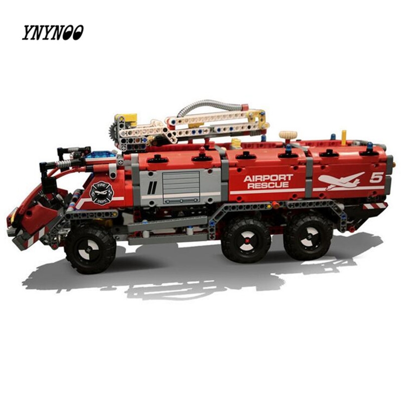 YNYNOO Lepin 20055 Genuine Technic Mechanical Series The Rescue Vehicle Set 42068 Children Educational Building Block Bricks Toy the rescue