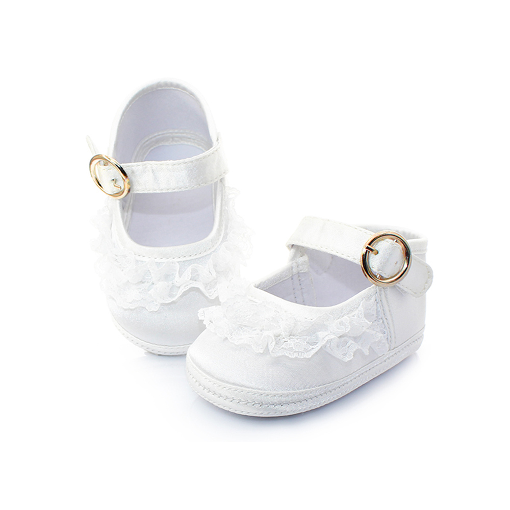 Delebao Pure White Taufe Babyschuhe Säuglingskleinkind Taufe Schuhe - Babyschuhe - Foto 5