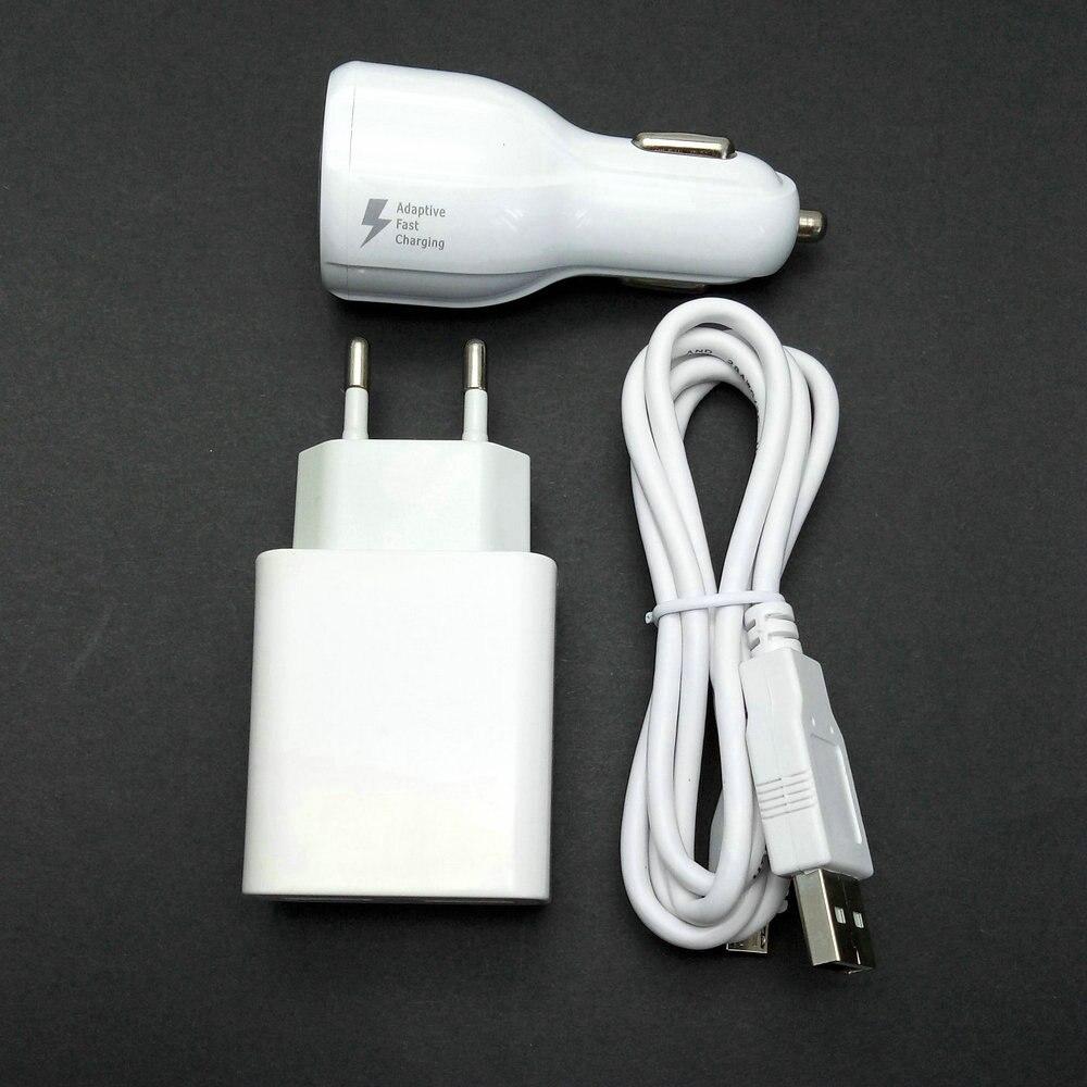 2.4a ЕС Путешествие стены адаптер 2 USB выход + Micro USB кабель + Автомобильное зарядное устройство для ZTE Grand S2 S 2 II S251 s291 s252 S221