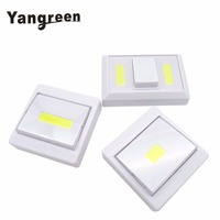 Whosale 12PCS COB LED Switch Light Battery Luminaire Portable Wireless Cordless Lamp Battery Operated Cordless Light