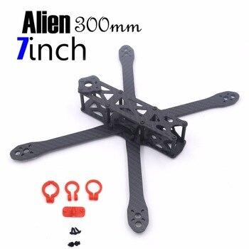 цена на Alien FPV 7 inch 5 inch pure carbon Fiber  300mm 225mm quadcopter mini drone frame kit