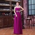 Barato Sexy Red A Linha Roxa do Chiffon de Cristal Elegante Formal Longos Vestidos de Noite 2017 Nova Chegada Vestidos Formais