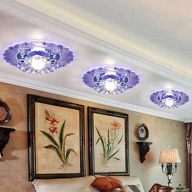 lámpara de Descuento decoración techo cristal LED Accesorio roWCxdBe