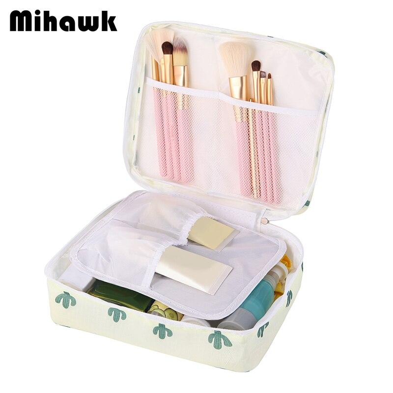 474e5db84130 Mihawk Women Wash Cosmetic Bag Beautician Vanity Organizer Bra Underwear  Travel Necessities Toiletry Makeup Case Organizer