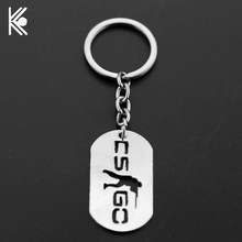 Game CSGO metal Keychain Counter Strike CS GO Alloy Key Chains For Men Male Keying Porte Clef Chaveiro Backpack accessories(China)