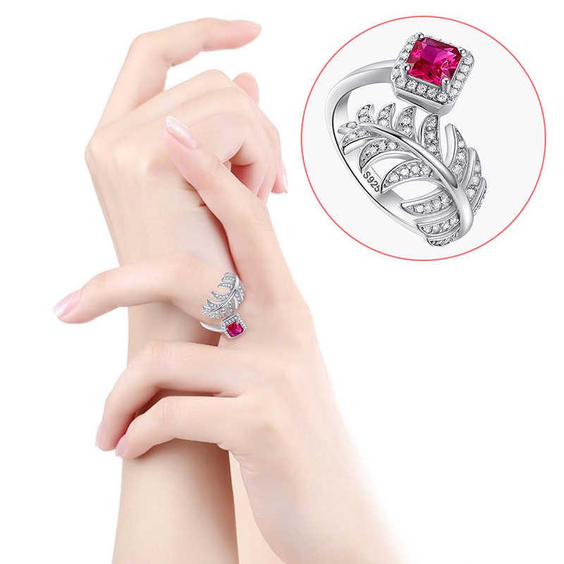 J.C Fine Jewelry 0.7ct urok Ruby & Sapphire i biały Topaz stałe 925 Sterling srebrny pierścień rozmiar 6 7 8 9 dla kobiet mężczyzn najlepszy prezent