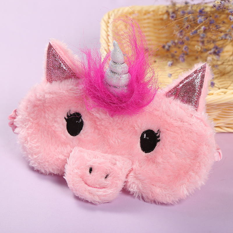 Plush Unicorn Eye Sleeping Masks