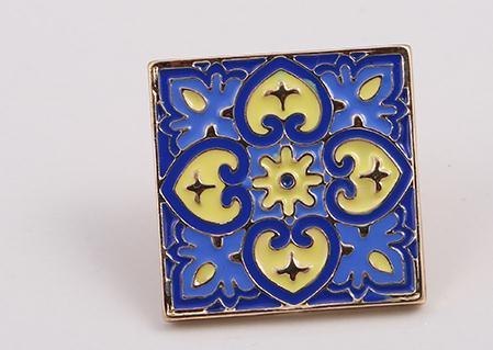 Fashion Jewelry New Drop Enamel Enamel Geometric Creative Tiles Personality Wild Brooch by Weishuoli