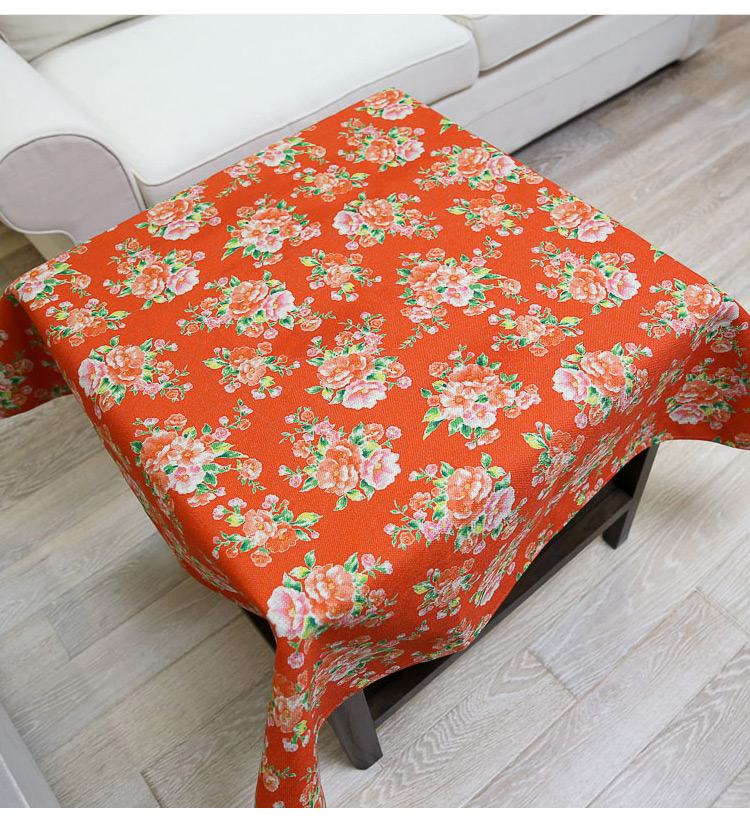 Cloth Table Floral Rectangular Square Round Linens Linen Tela Cotton Cover Fabric Decoration Drap Doily Home Tablecloths DD0653