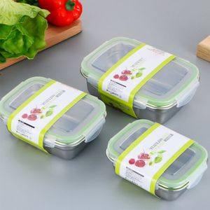 ONEUP 304 Stainless Steel Lunch Box Eco-friendly Portable Food Storage Container refrigerator Multipurpose Leakproof Crisper Box