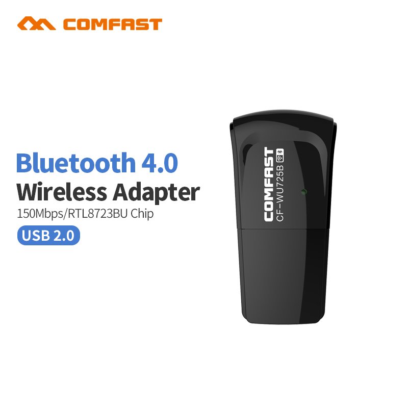 Comfast CF-WU725B bluetooth 4.0 150 mbps mini adaptador wi-fi sem fio usb lan wifi suporte cartão de rede window2000/xp/vista/win7