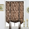 Pocket Kitchen Thick Luxury Door Curtain Brown Short Roman Rod Ready Style Curtains Curtains European For