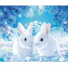 Cute white rabbit diamond Embroidery diy painting mosaic diamant 3d cross stitch pictures H841