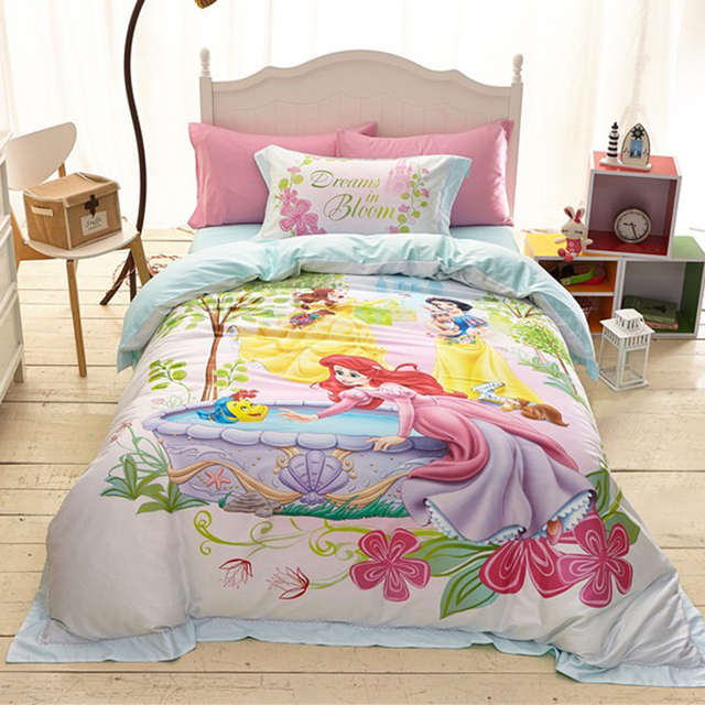 Hot Sales Princess 100% Cotton Bedding Sets For Bed Linen With Duvet Cover+ Bed