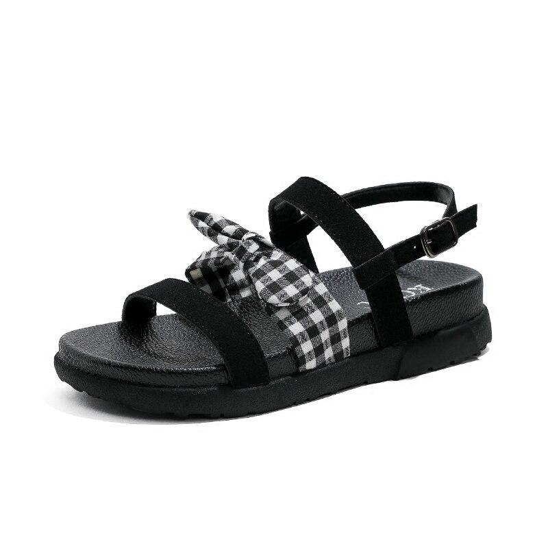 1 Doux Romaines Harajuku 2018 Été Fond Nouveau Femme Sœur Kong Étudiants Casual Sandales Chaussures Hong Coréenne Plat Épais Femmes SxUOxw