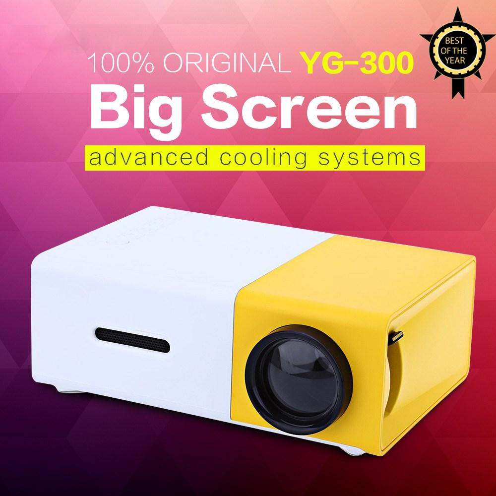 AAO YG300 YG310 LED Portable Projector 400 600LM 3 5mm Audio 320 x 240 Pixels YG