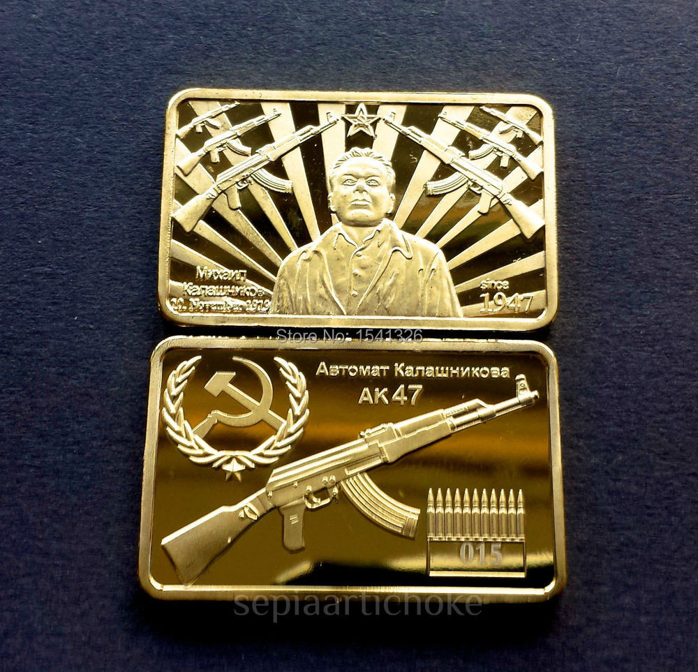 Golden Ak47 Sword Kalashnikovs Sniper Rifle Gel Cs Cf Writing Fidget Spinner 5 Sisi Mainan Spiner Sj0056 Gratis Pengiriman 3 Pcs Lot Peringatan Bar 24kt Emas Ingot Kalashnikov Mikhail