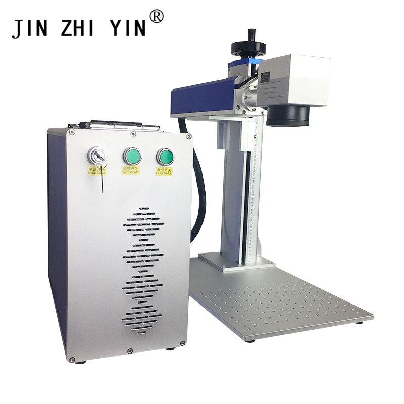 JIN ZHI YIN 30w Split Mini Fiber Laser Marking Machine For Nameplate Ring Stainless Steel CE FDA Cnc