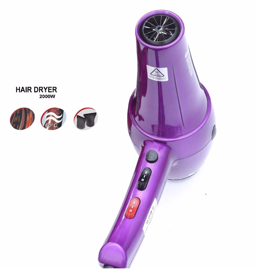 ФОТО 2000w Professional hair dryer blow dryer hairdryer with nozzles Hot/cold air adjust high quality 220-240v Voltage