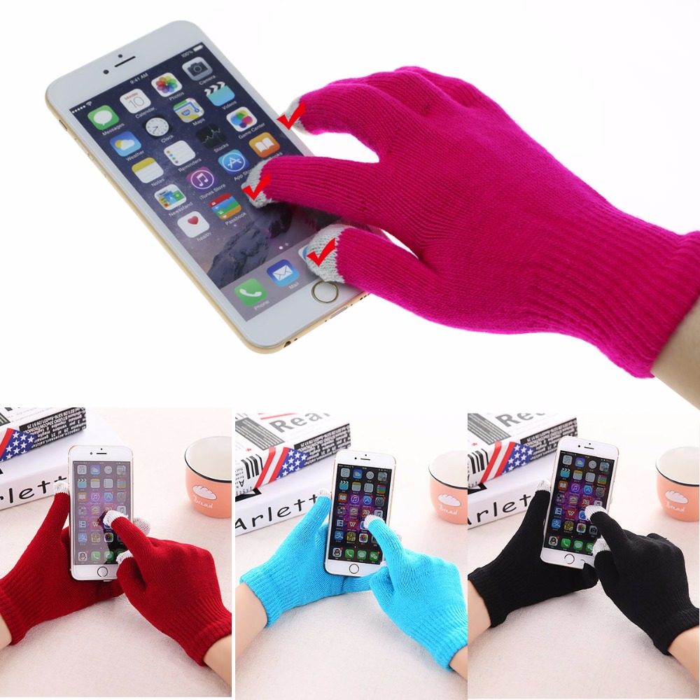 Winter Soft Gloves Men women Touch Screen Glove Women Texting Outdoor Capacitive Smartphone Stretchy Windproof Mittens 7Colors