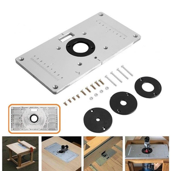 Aluminum Router Table Insert Plate w/ 4 Rings For Woodworking Benches Router Table Plate Wood Working Tools new woodworking trim bench plate aluminum router table insert insert plate 4 rings screws for woodworking benches 700c