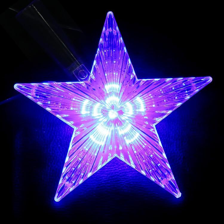 8 Modes Play LED Star Light 22CM Big Star Waterproof LED Single String Light AC220V Hang On Christmas Tree Decoration Light