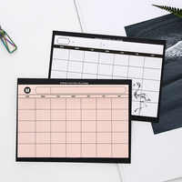 Creative simple desktop schedule planner Monthly Plan kawaii mini notebooks office supplies Work efficiency summary organizer