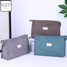 XZP Waterproof Solid Men Women Makeup Bag Travel Organizer Cosmetic Bag for Women Necessaries Make Up Case Wash Toiletry Bag lhlysgs brand women double storage large waterproof makeup bag travel cosmetic bag organizer case necessaries wash toiletry bag