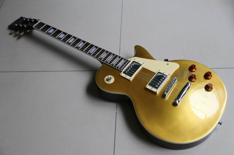 New Arrival LP Standard 1957 Les Electric Guitar Goldtop ,Humbucker pickups paul In Gold Back Deep Red 111018 forestwind new arrival hot selling junior standard style pickups electric guitar 2 pic free shipping