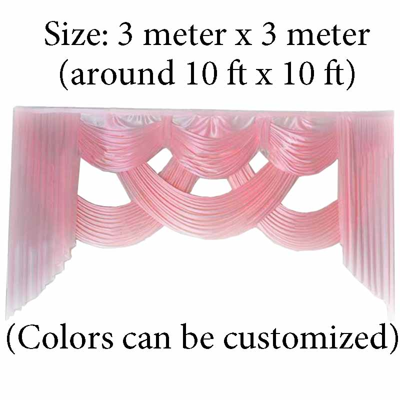 backdrop wedding decoration party stage wedding decorative backdrop background curtain swags 10 ft length ice silk fabric